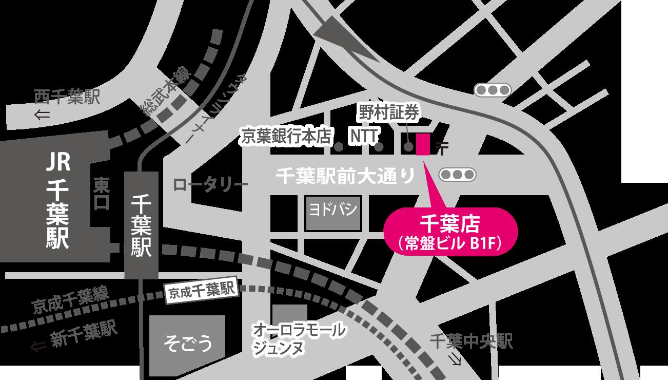 船橋教室の地図